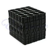 10 × 18650 バッテリー 4 × 5 携帯スペーサー放射シェルパックプラスチック熱ホルダー黒