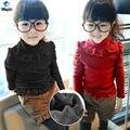TUTUYU Tiny Baby Girls Niños Atan el Suéter Otoño Invierno Soild Algodón Jersey de Punto Jersey de Moda Suéter Caliente