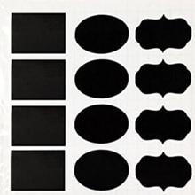 Chalkboard labels, self adhesive vinyl, in oval shape,1000 pieces 80*55mm chalkboard sticker