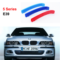For 1995 2003 BMW 5 Series E39 3D M Styling Front Grille Trim Motorsport Strips Grill