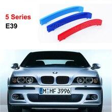 Para 1995-2003 BMW serie 5 E39 520i 525i 528i 530i 535i 3D M motorsport Estilo Parrilla Delantera Trim Tiras parrilla Cubierta de Pegatinas
