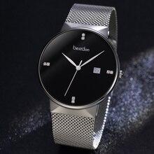 אוהבי שעונים עבור גברים נשים נירוסטה רצועת קוורץ שעון גברים של ספורט שעון נשים של שמלת שעון יד זוג מתנה
