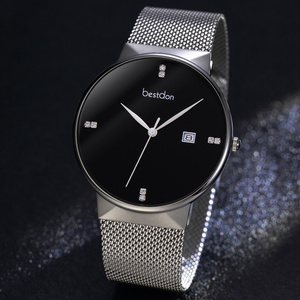 Image 1 - Lovers Watches For Men Womens stainless steel Strap Quartz Watch Mens Sports Clock Womens Dress Wrist Watch Couple Gift