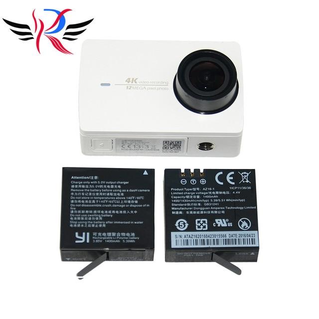 1 Шт. Оригинальные Аксессуары Xiaomi Yi2 4 К Действий Камеры Аккумулятор AZ16-1 3.85 В 1400 мАч 5.39WH Аккумулятор для Xiaoyi2 открытый Спорт DV