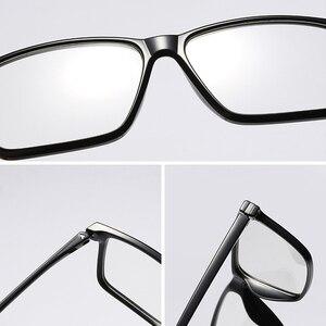 Image 5 - Siyah TR90 bilgisayar gözlük çerçevesi erkekler optik miyopi gözlük Anti mavi ışık engelleme gözlük gözlük reçete gözlük