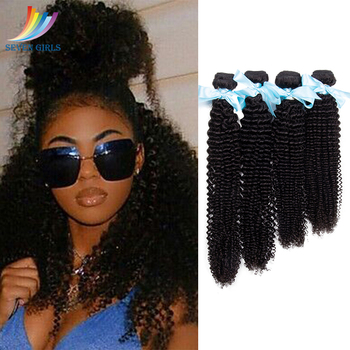 Sevengirls Kinky Curly Hair Bundles Peruvian Raw Virgin Human Hair Natural Color Wet And Wavy 4 Bundles For Women Free Shipping цена 2017