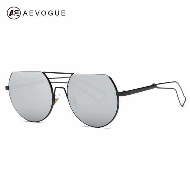 109a4eb7df9 AEVOGUE Sunglasses Women Brand Designer Round Frame Metal Temple Oversize  Vintage Newest Sun Glasses With Box