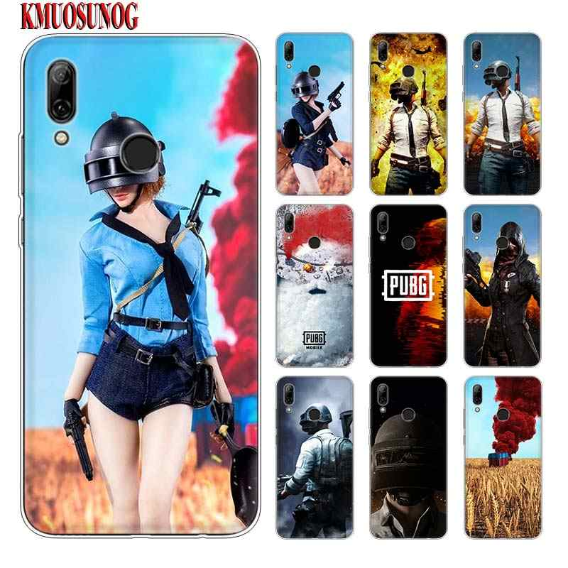 Silicone Phone Case PUBG Game Fashion for huawei P30 Lite P Smart Honor 7A 8 8A 8C 8X 10i Y5 Y6 Y7 Y9 Pro 2019 2018 2017