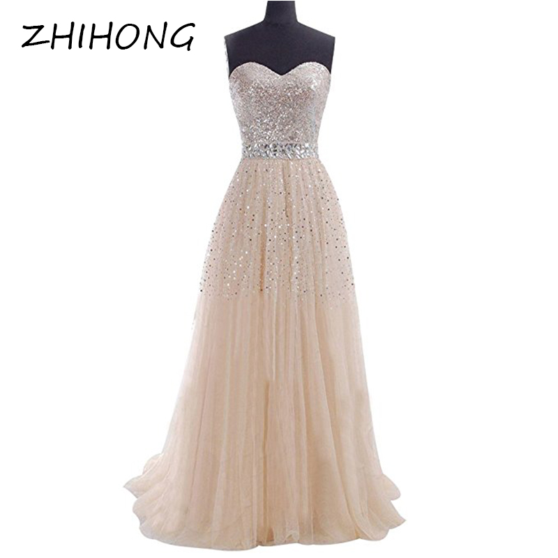 ZHIHONG Women Sexy Evening Gown Western Style Strapless Yarn Dress