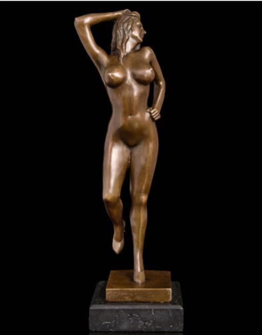Livraison Art Déco Sculpture Femme Nue Corps Féminin Bronze Statue rapide