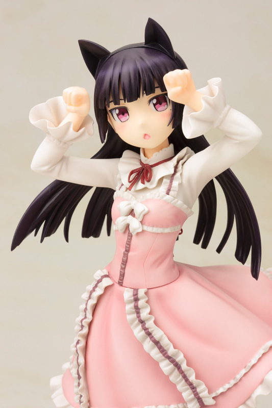 Anime Figure Sexy Pink Cat Kuroneko Sweet Lolita Ruri Gokou Doll Cute Girl OreNo Imouto Ga PVC Model Toy Girl Gift 22cm LELAKAYA