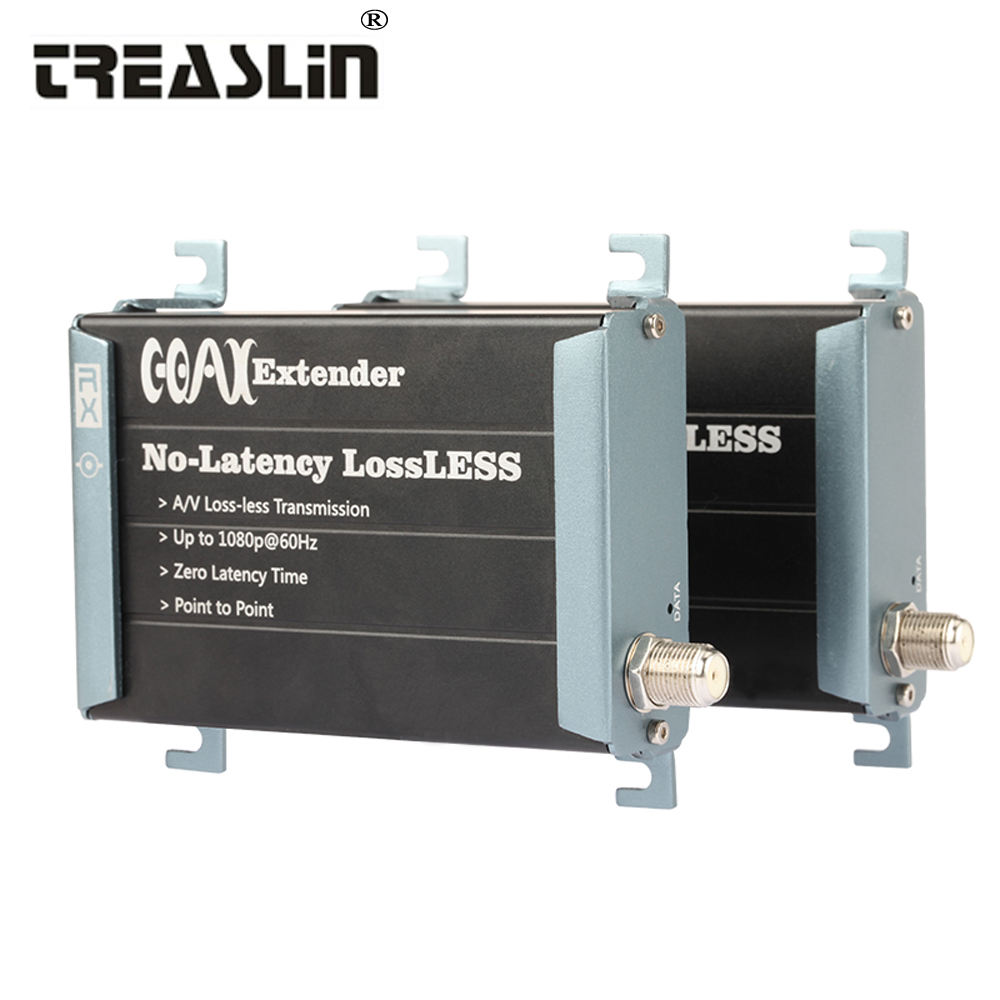TreasLin 300 mètres HDMI Extender Sur Coaxial Câble Zéro Latence HDMI Émetteur Sur RG59 RG6 RG7 pour HDTV STB TV boîte
