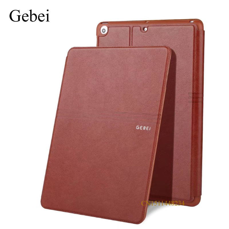 for iPad air 5 Tablet Cover, Gebei luxury Ultra-thin cover, Leather+Silicone Case, smart sleep / wake up cover A1474 A1475 A1476 sgl luxury ultra smart stand cover for ipad air 1 ipad5 case luxury pu leather cover with sleep wake up function for ipad air1