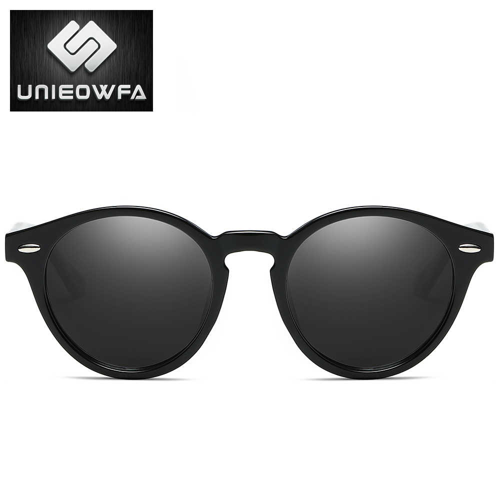5ad69e35b782 ... UNIEOWFA Male Retro Round Sunglasses Men Polarized Goggle Matte Black Sun  Glasses For Men Polaroid Vintage ...