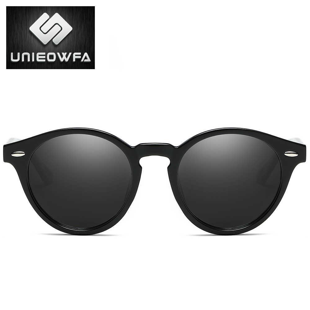 ... UNIEOWFA Мужской Ретро Круглые Солнцезащитные очки Для Мужчин  Поляризованные Очки матовые черные солнцезащитные очки для Для ... a47574e3138