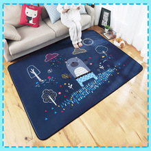 Baby Cute Play Mat  Developing Mat Acetate Fiber Eco-friendly Material Double Thick Soft  Pervious Lovely Pattern Crawling Rug