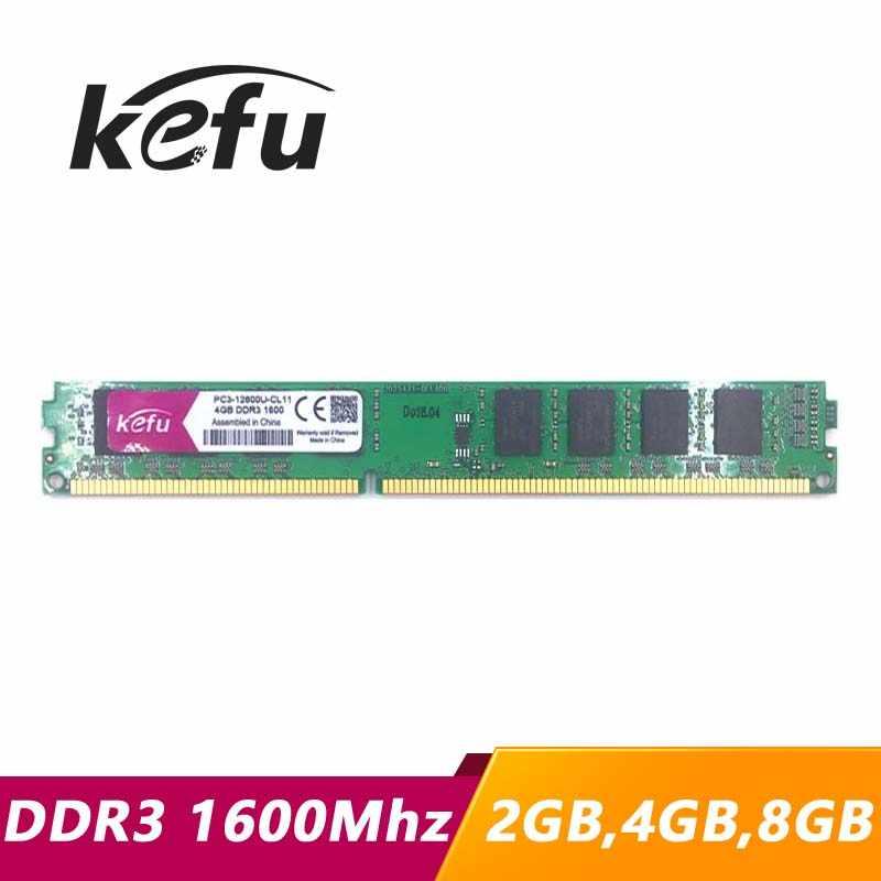KEFU RAM DDR3 2 gb 4 gb 8 gb 1600 1600 mhz PC3-12800U PC3-12800 PC Computer Desktop RAM di Memoria Memoria DIMM 2g 4g 8g