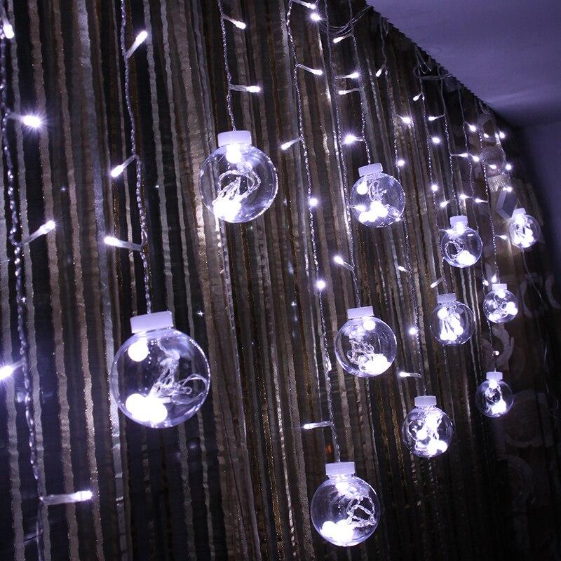 Lanterne boule de noël lumières fenêtre décoration mariage salle disposition coloré populaire décoratif lumières LED lumières sur la boule