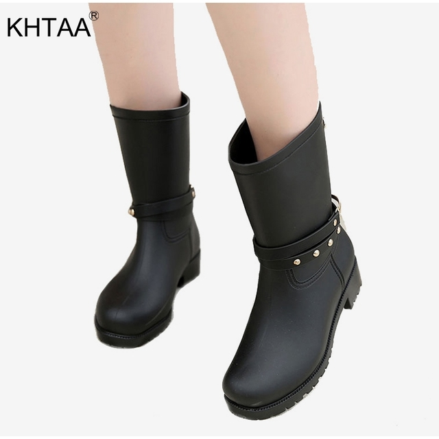 0eb1d7905 Medium-Heels-Platform-Women-s-Rain-Boots-Mid-Calf-Autumn-Buckle-Non-slip-Rivets-Ladies-Shoes.jpg 640x640.jpg