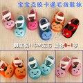 Bebé infantil antideslizante calcetines de venta 0-1baby zapatos del niño de la muchacha plana calcetines de dibujos animados 10 unids/lote primavera otoño + FREE