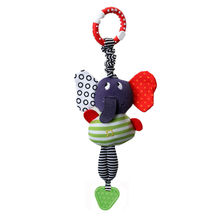 Cute Music Elephant Lathe Hang Baby Infant Pram Dolls Educational Toys Teether Rattles  Mobilesnew Hot Fashion