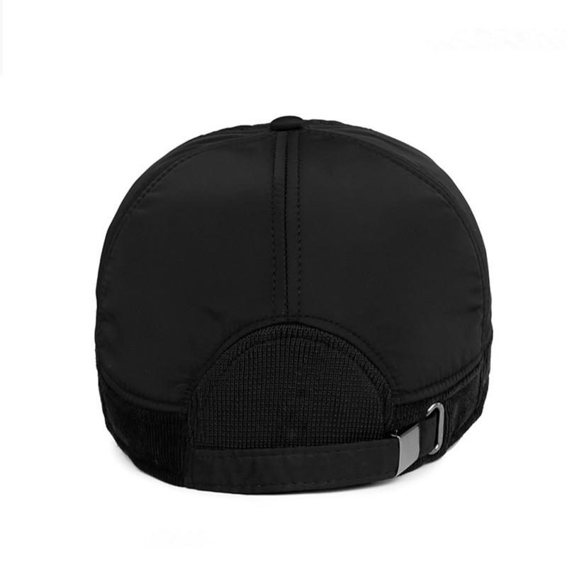 2016-Warm-Winter-Baseball-Cap-Men-Brand-Snapback-Black-Solid-Bone-Baseball-Mens-Winter-Hats-Ear (3)