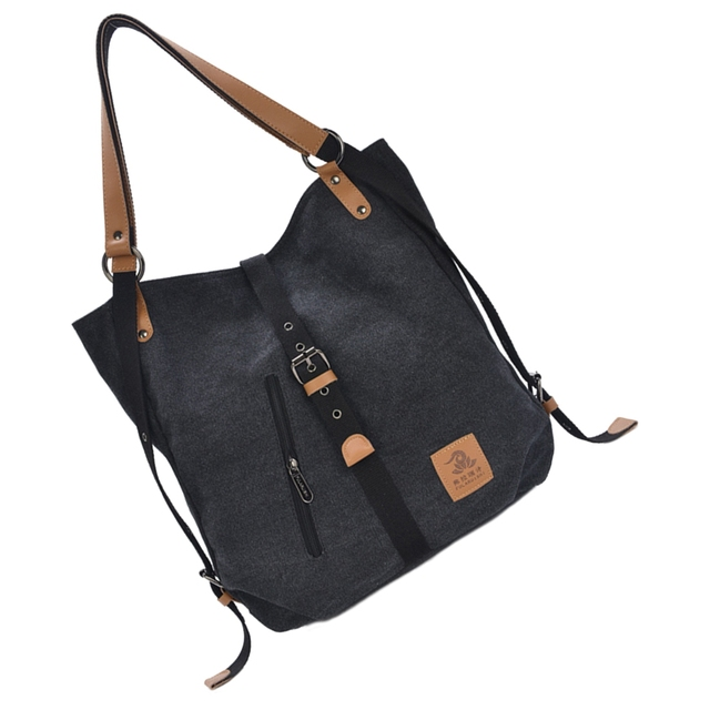 Women Fashion Casual Canvas Multifunctional Messenger Bag 3