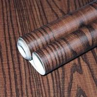 HaokHom Ultra Oak 3d Wood Wallpaper Self Adhesive Brown Covering Peel Stick contact paper Shelf furniture Sticker Drawer Liner