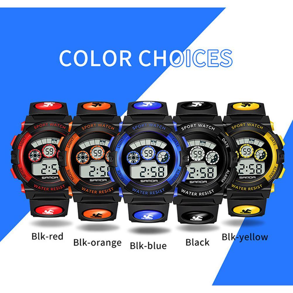 Sanda Sports Watch Electronic Waterproof Luminous Students Children Gift Fashionable