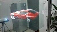 Película de proyección holográfica de 1 52 m x 1 m  película de proyección trasera adhesiva para pantalla de ventana
