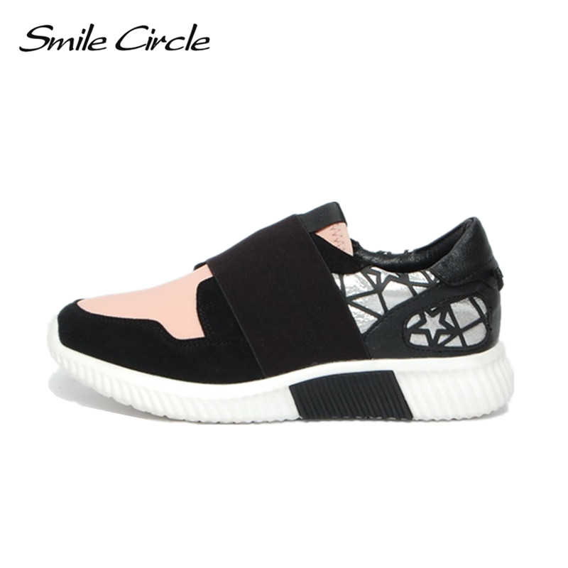 Smile Circle Spring Autumn Fashion flat Shoes For Women sneakers Comfortable casual shoes women Platform shoes smile circle spring autumn women shoes casual sneakers for women fashion lace up flat platform shoes thick bottom sneakers