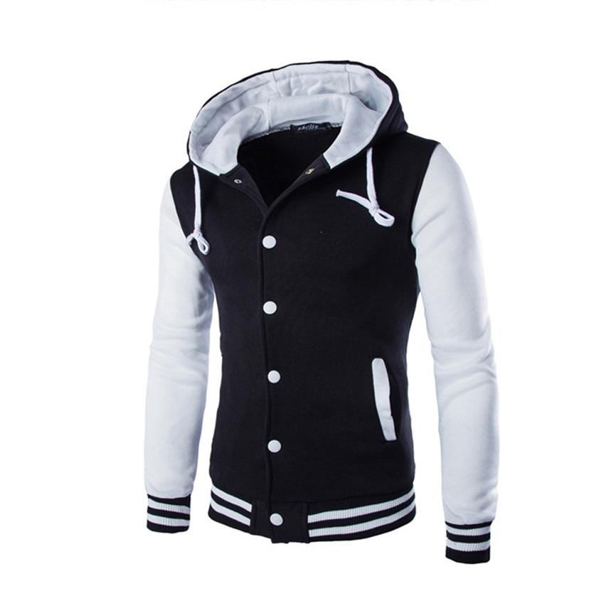 1f7e64f9092 2018 Fashion jacket Spring Autumn Plus Size wrap coatMen Coat Jacket  Outwear Sweater Winter Slim Hoodie Warm Hooded Sweatshirt