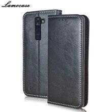 Lamocase для LG K8 Case Роскошный кожаный чехол для LG K8 LTE K350N откидная крышка с кошелек слот