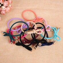 Красочные украшения для волос повязку глава дети девочки повязка на голову резинка кольцо круг резинка резинки для волос аксессуары для волос резинки для волос