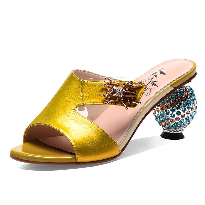 Fedonas 2019 클래식 패션 솔리드 여성 샌들 여름 새로운 정품 가죽 하이힐 캐주얼 로마 신발 여성 파티 댄스 파티 신발-에서하이힐부터 신발 의  그룹 2