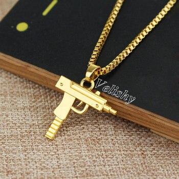 Vintage Gun Choker Pendant&Necklace