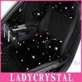 Ladycrystal morna macia almofada de pelúcia tampa de assento do carro para ford para a Toyota Car Styling Assento De Cristal Cobre Para As Mulheres Meninas senhoras