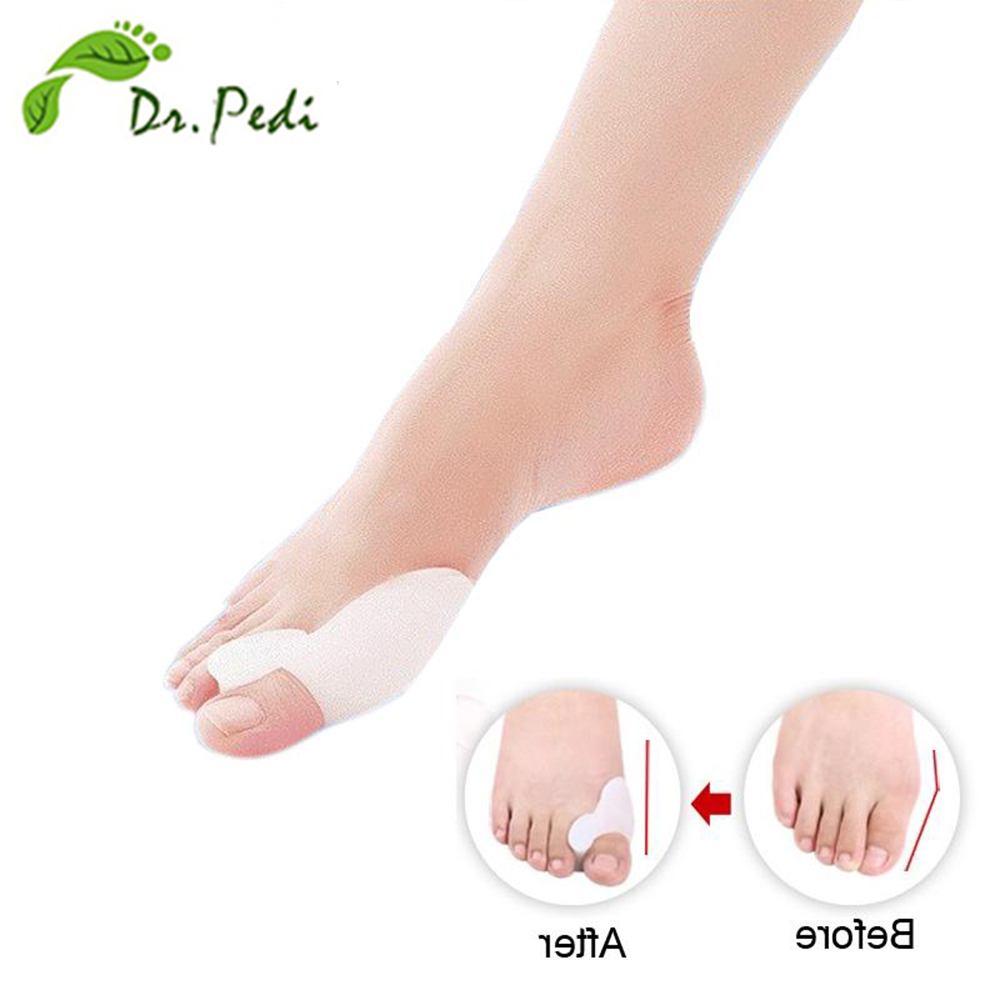 Hot selling hallux valgus pro feet care Toe seperator pies gel bunion guard toe Pillow Corrector Foot massager 2piece=1pair image