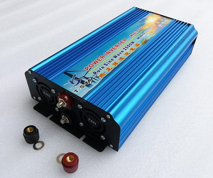 2500 w de puissance de pointe 5000 w affichage numérique pur onde sinusoïdale onduleur 12 v/24 v/36 v /48 v DC entrée à 110 v/220 v AC Puissance de sortie Onduleur