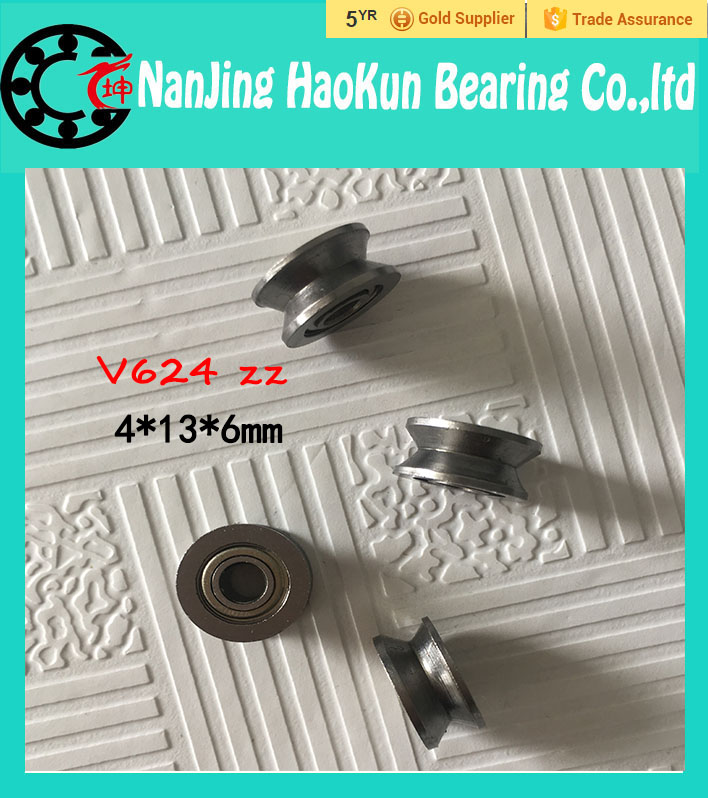 Free shipping 8pcs V624/120 V groove deep groove ball bearing 4x13x5mm pulley bearing free shipping 2pcs v625 90 v625zz v groove deep groove ball bearing 5x16x5mm pulley bearing