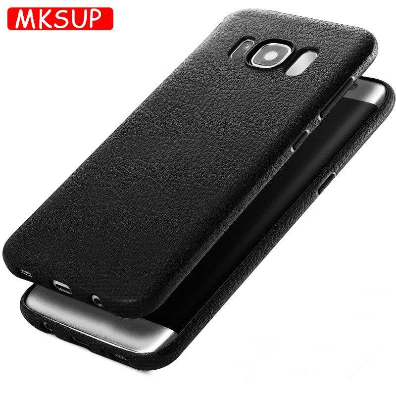 Роскошные ультра тонкий Мягкий ТПУ силиконовый защитный чехол для телефона для Samsung Galaxy S8 s 8 плюс 3D личи Кожа задняя крышка Coque