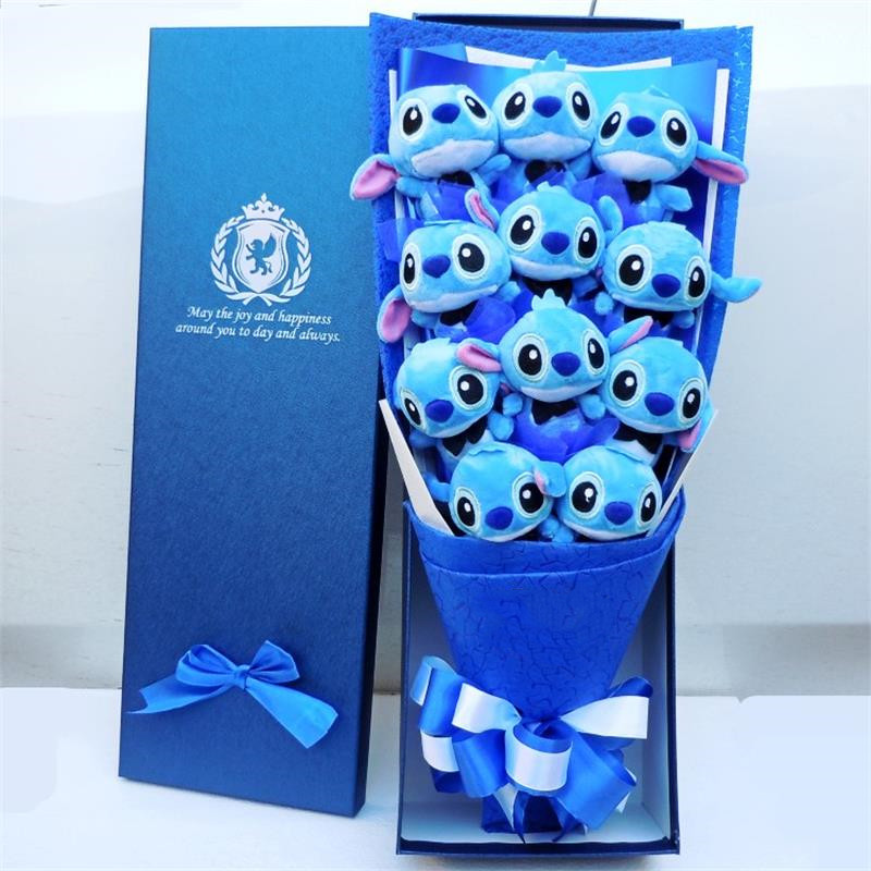 Cute Stitch plush toys stitch bouquet gift box stuffed animals Lovely Doll Best Gift for Children toy Christmas Valentines giftCute Stitch plush toys stitch bouquet gift box stuffed animals Lovely Doll Best Gift for Children toy Christmas Valentines gift