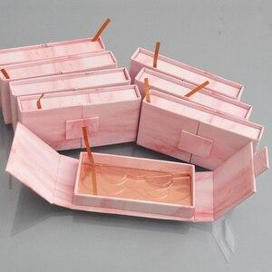 Image 2 - 150pc custom lash boxes packaging eyelash box with logo faux cils 3d mink eyelashes strip square magnetic case bulk vendors