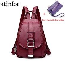 1a45a7328745 Anti Theft для женщин мягкие из искусственной кожи рюкзаки кошелек Винтаж  женская сумка дорожная дамы небольшой