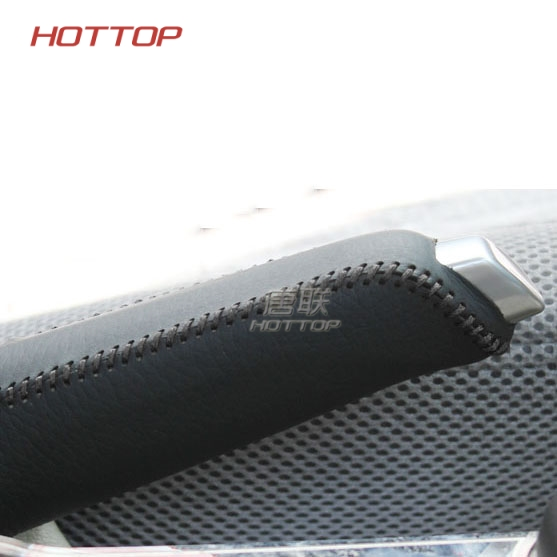Topunion Car Gear Covers Case For Ford Focus 1.6L 2012 Auto Handbrake Leather Cover Car Styling Genuine Leather