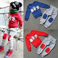 2016 Lovely Babys Kids Boys Finger Games Sport Tracksuits 2pcs Outfit Sets sports suit for a boy clothes clothing sets 2-7Y