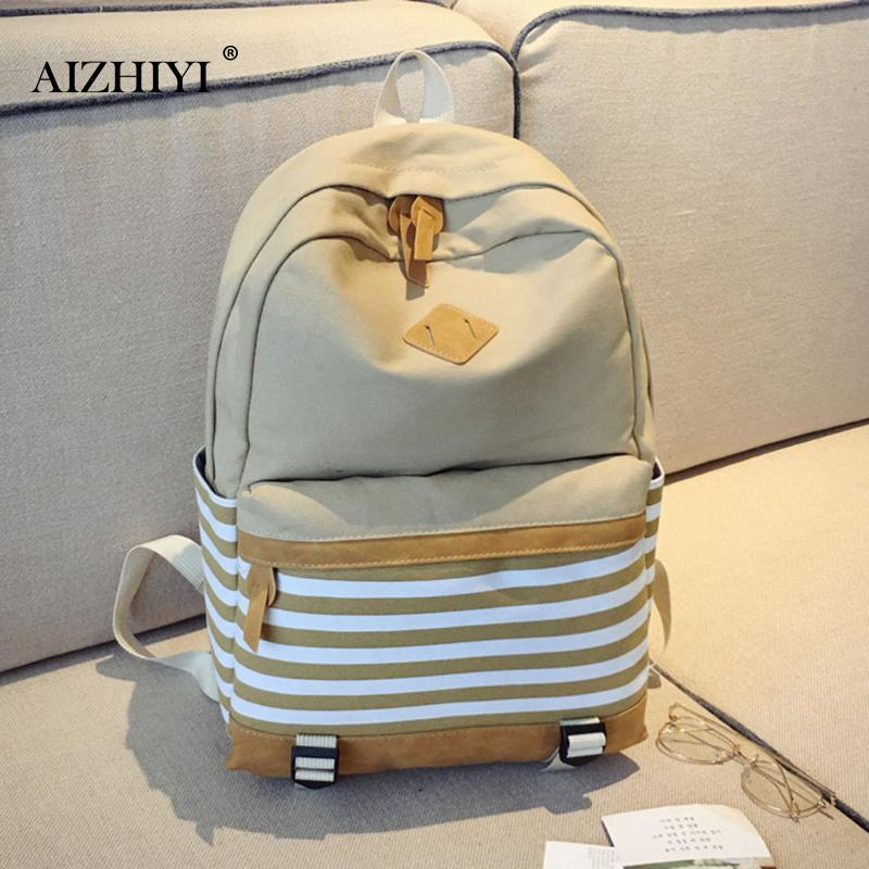Winner Preppy Women Canvas Backpack Striped Printing Backpack School Bags For Teenage Girls Ladies Travel Bags mochila feminina canvas printing backpack women school bags for teenagers girls backpacks ladies bolsas mochila feminina black color