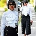 Горячие модные популярные 2016 белый черный 2 шт. sexy боди женщины длинные брюки женская одежда набор