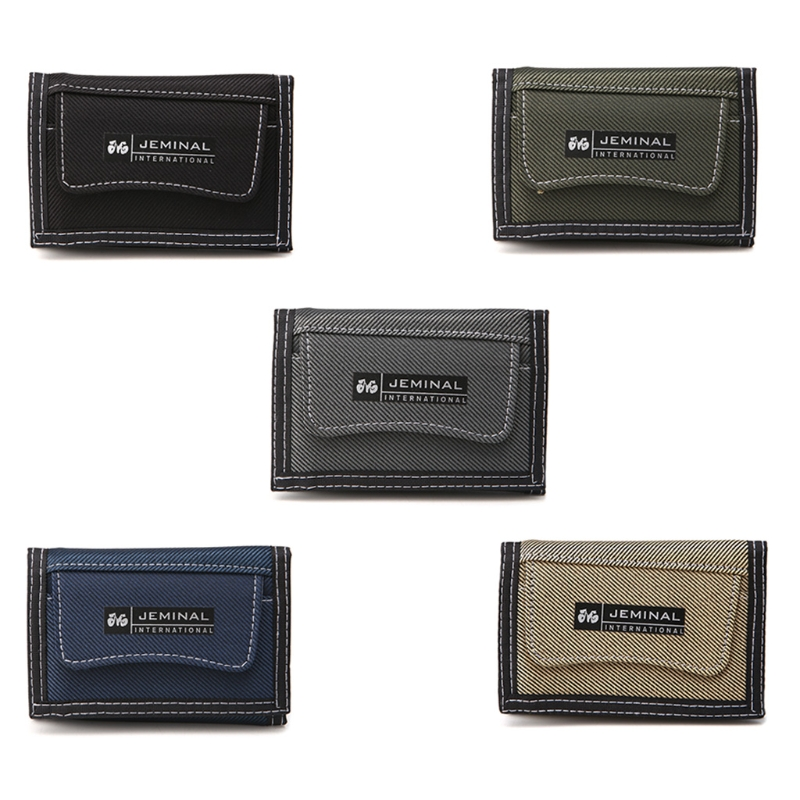 Men Canvas Short Design Wallet Pocket Zipper Coin Purse Credit Card ID Holder Male Casual Letter Purse
