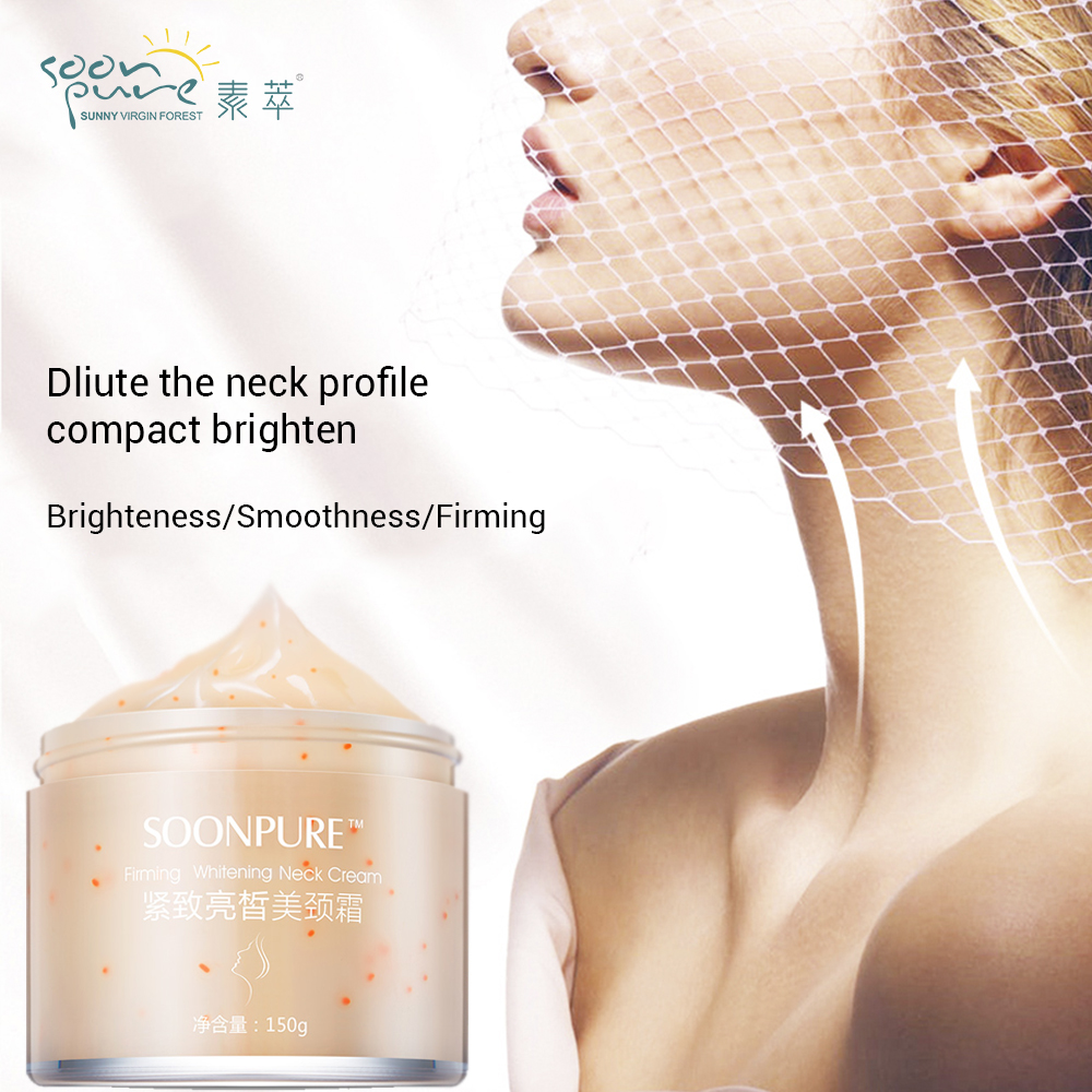 SOONPURE Neck Cream Anti Wrinkle Anti Aging Skin Care Neck Cream Essence Effective Neck Firming Cream kaish cream p90 high power sound neck